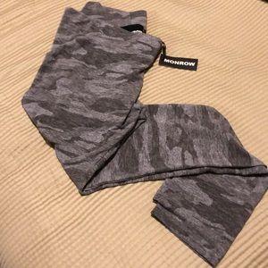 Monrow leggings medium Camouflage gray beige